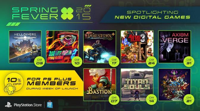 Playstation Spring Fever Sale