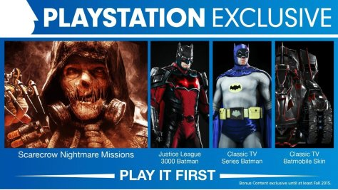 BATMAN Arkham knight batman ps4 exclusives