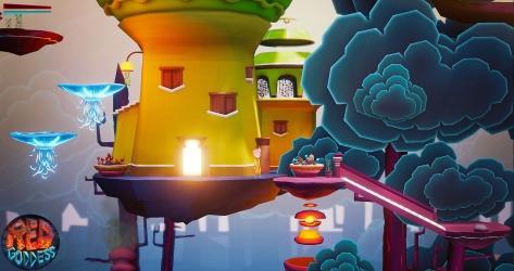 red goddess flotant house platforms