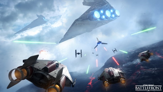 EA Reveals A Stunning New Gameplay Trailer For The Fighter Squadron Mode In Star Wars Battlefront