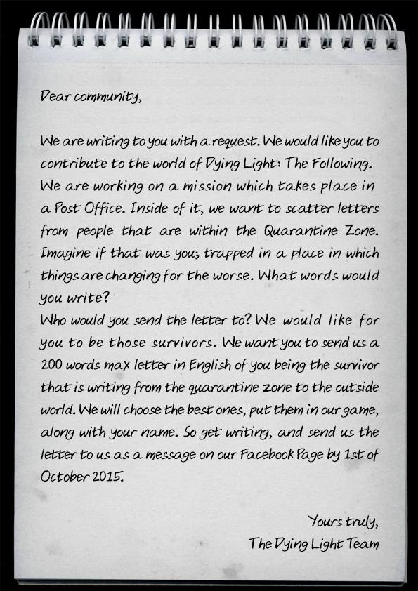 dying light the following post office letters