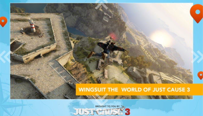 Dive Into The World Of Just Cause 3 On Mobile Devices, With The Wingsuit Experience