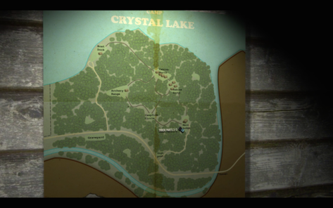 Friday The 13th Map of Camp Crystal Lake