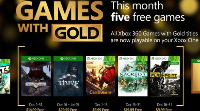 Games With Gold, December 2015: Start Enjoying Your Free Games!