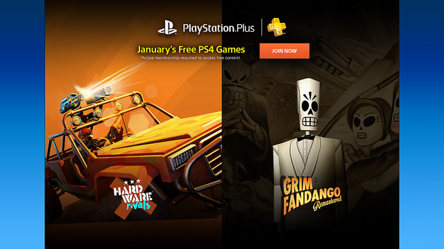 January 2016 PS Plus Free Games