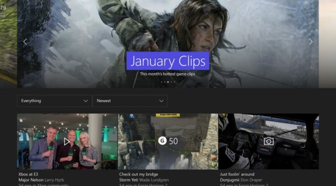 Xbox Reveals The Details Of Their First Update Of 2016