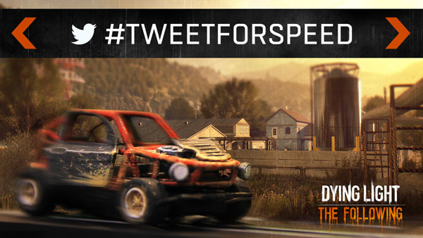 Techland Reveals A Twitter Campaign For Dying Light: The Following, Where You Make A Car Go Around A Track To Reveal The Map